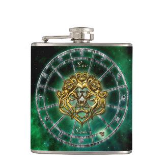 Leo Zodiac Astrology design Hip Flask