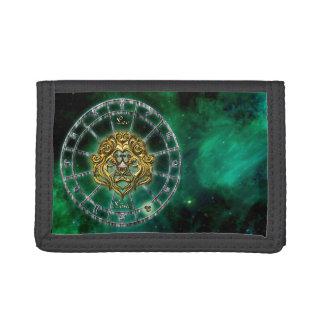 Leo Zodiac Astrology design Trifold Wallet