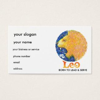 Leo - Zodiac Business card
