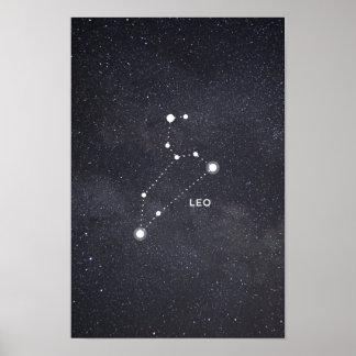 Leo Zodiac Constellation Poster