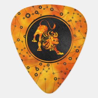 Leo Zodiac Fire element Guitar Pick