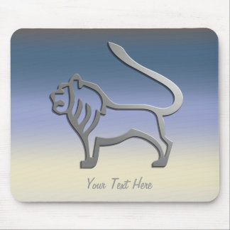 Leo Zodiac Lion Star Sign In Light Silver Mousemat Mouse Pad