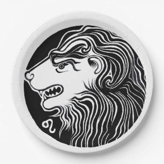 Leo - Zodiac Party plates