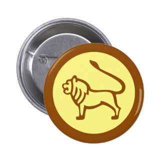 Leo Zodiac Sign 2 Inch Round Button