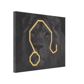 Leo Zodiac Sign | customizable Background Canvas Print