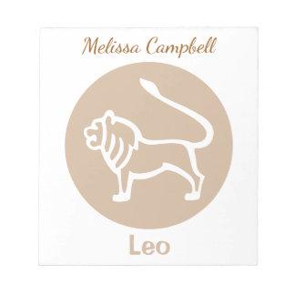 Leo Zodiac Sign Notepads