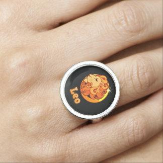 Leo zodiac sign photo ring