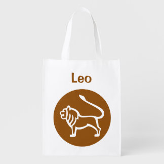 Leo Zodiac Sign Reusable Grocery Bag