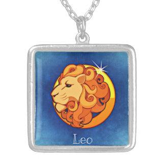 Leo Zodiac Square Necklace