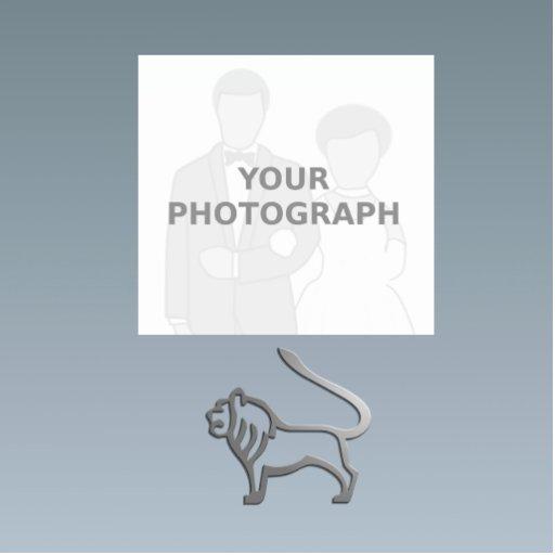 Leo Zodiac Star Sign Light Silver Photo Sculpture