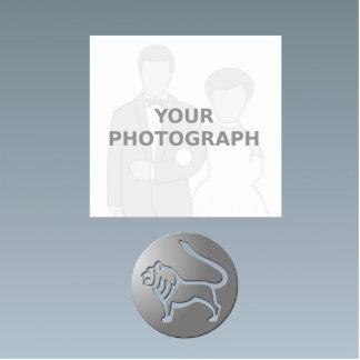 Leo Zodiac Star Sign Silver Premium Standing Photo Sculpture