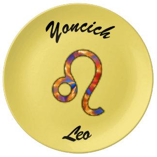 Leo Zodiac Symbol Element by Kenneth Yoncich Plate