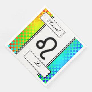 Leo Zodiac Symbol Standard by Kenneth Yoncich Paper Napkins