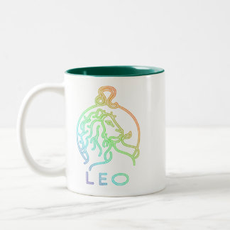 Leo zodiac Two-Tone coffee mug