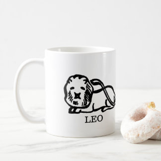 LEO Zodiac Vintage Lion Horoscope Coffee Mug