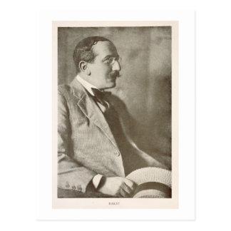 Leon Bakst (1866-1924), Russian painter, portrait Postcard