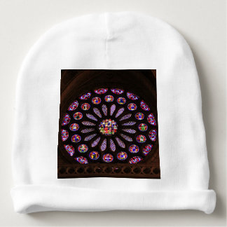 Leon Cathedral window, El Camino, Spain Baby Beanie