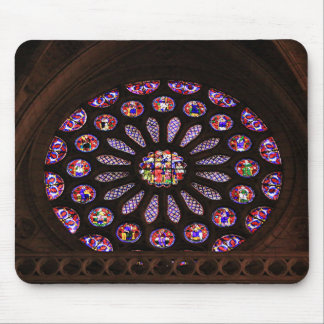 Leon Cathedral window, El Camino, Spain Mouse Pad