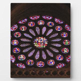 Leon Cathedral window, El Camino, Spain Plaque