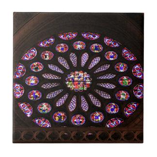 Leon Cathedral window, El Camino, Spain Tile