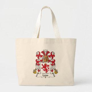 Leon Family Crest Jumbo Tote Bag