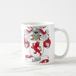 Leon Family Crest Coffee Mug