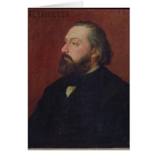 Leon Gambetta 1875 Greeting Card