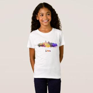 Leon skyline in watercolor T-Shirt