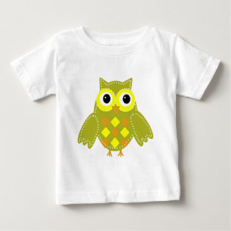Leon the Lime Green Adorable Owl Baby T-Shirt