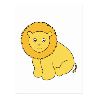 Leon the Lion Cute Cartoon Cat Postcard