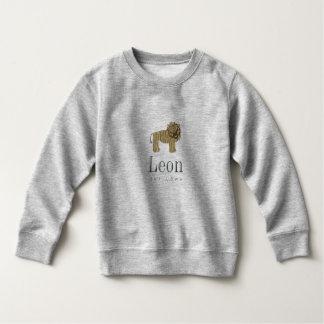 Leon the lion Sweatshirt in grey Meliert