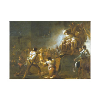 Leonaert Bramer The Judgment of Solomon Canvas Print