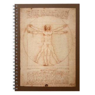 Leonard Da Vinci Anatomy of Man Vitruvian Man Notebook