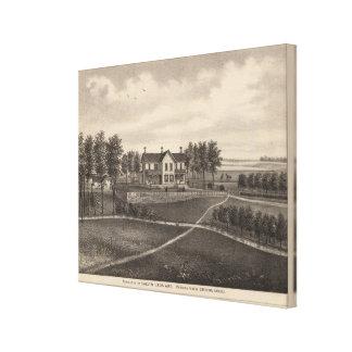 Leonard residence, Quenemo, Kansas Canvas Print