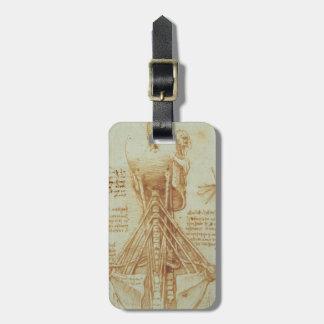Leonardo da Vinci- Anatomy of the Neck Luggage Tag