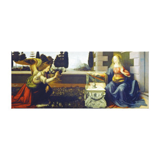 Leonardo da Vinci Annunciation Canvas Print