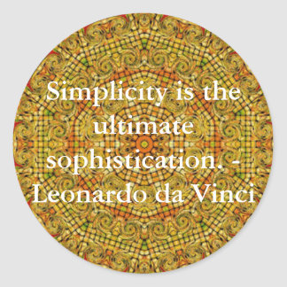 Leonardo da Vinci art quote Classic Round Sticker