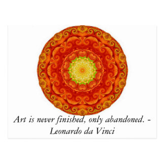 Leonardo da Vinci art quote Postcard