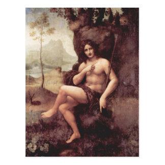 Leonardo da Vinci Bachus 1511-1515 Technique Holz  Postcard
