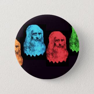 Leonardo Da Vinci Collage 2 Inch Round Button