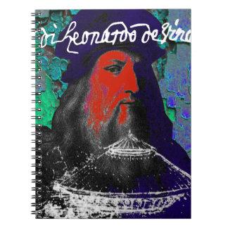 Leonardo Da Vinci Genius Mixed Media Collage Notebook