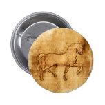 Leonardo Da Vinci Horse Art Pin