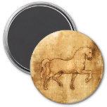 Leonardo Da Vinci Horse Art Refrigerator Magnet