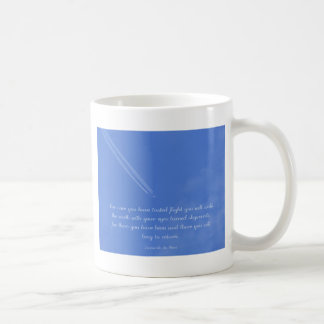 Leonardo Da Vinci inspirational flight quote Coffee Mug