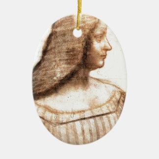 Leonardo da Vinci - Isabella D'este Painting Ceramic Ornament