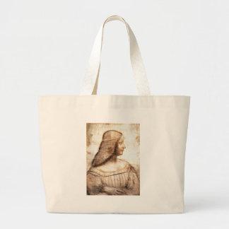 Leonardo da Vinci - Isabella D'este Painting Large Tote Bag