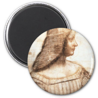 Leonardo da Vinci - Isabella D'este Painting Magnet