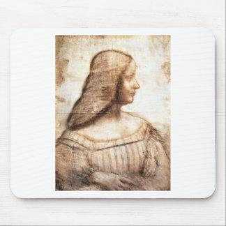 Leonardo da Vinci - Isabella D'este Painting Mouse Pad
