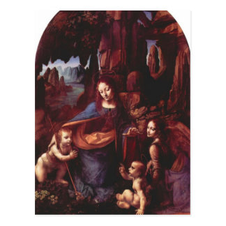 Leonardo da Vinci - Madonna in the rock cave Postcard