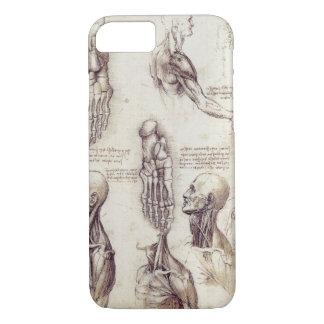 Leonardo Da Vinci Medical sketches, body parts iPhone 7 Case